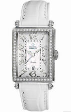 Gevril Women's 6209NL Glamour Automatic Diamond MOP Dial Leather Date Watch