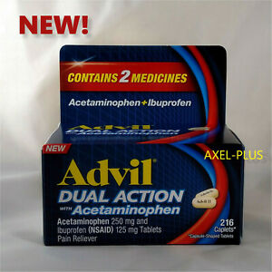 Advil DUAL ACTION with Acetaminophen and Ibuprofen, 216 Caplets