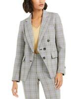 Bar III Women's Plaid Blazer Suit Jacket Separates, Gray, Size 6 - S, $129, NwT