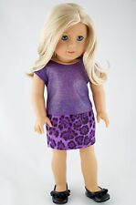 Purple Tee and Skirt American Made / Doll Clothes For 18 inch Girl Dolls