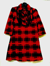 Anna Sui Plaid Check Shirt Dress