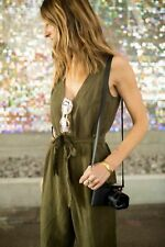 Anthropologie HD In Paris Manoa Overall Large (UK 12 - 14) Moss