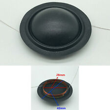 28mm 6Ohm Voice Coil Silk Film Diaphragm Dome Tweeter Speaker Universal 2pcs/set