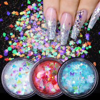 Holographicss Nail Glitter Powder Sequins Butterfly Flower Flakes Nail Art Decor