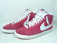 Light Red Nike Blazer High Tops Vintage Trainers UK Size 6.5 EU 40.5 US 7.5 USED
