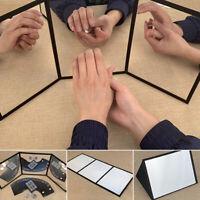 Portable Three-mirror Practice Mirror Temporary Card Pad Magic Props Accessories