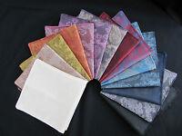 Mens Paisley Silk Satin Pocket Square Hanky Handkerchief, Hankies- Red-Gold-Navy