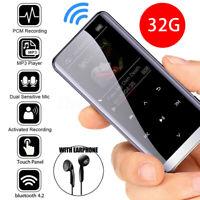 32GB Bluetooth MP3/4 Player HIFI Sport Music Speakers Media FM Radio Recorder LA