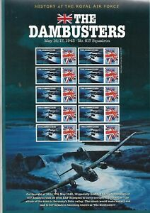 GB - Royal Mail Commeorative Sheet 'The Dambusters with Westminster Certificate