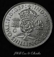 1944 George VI Silver Florin / Two Shillings Coin Higher Grade