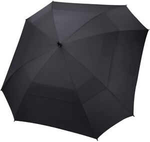 HIPPO automatic Golf Umbrella 62 Inch square Double Canopy Vented brolly