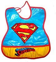 Vintage 94 Superman Justice League Plastic Baby Bib Ex Panther Black Batman Ofr
