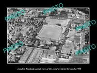 OLD LARGE HISTORIC PHOTO LONDON ENGLAND AERIAL VIEW LORDS CRICKET GROUND c1950