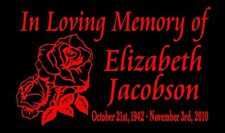Roses In Loving Memory Of Decal Two Personalized Decals Car Vinyl Sticker