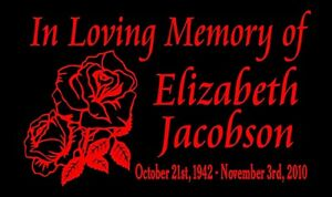 In Loving Memory Of Decal Roses Personalized Name Dates Car Vinyl Sticker