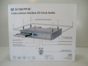 Audiovox Undercabinet Kitchen CD Clock Radio AM/FM Timer New Open Box