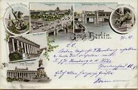 2440: Ansichtskarte Postkarte Berlin Mehrbildkarte 1898 Lustgarten Museum