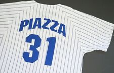 Vintage Authentic Starter Mike Piazza LA Dodgers Road Jersey L Pinstripe MLB