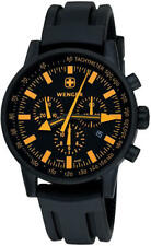 Wenger70893 Swiss Raid Commando Orange-Accent Chronograph Black Silicone Strap