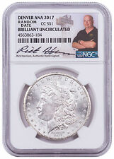 Coin/Newspaper Random-CC Morgan Silver Denver ANA 2017 NGC BU Harrison SKU48726
