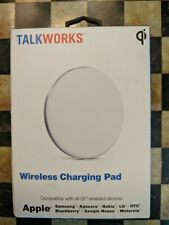 Wireless Charger by TalkWorks Qi Certified Charging Pad W/AC Wall Charger- White