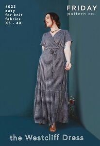 Friday Pattern Co - The Westcliff Dress - Printed Pattern - For Knit Fabrics