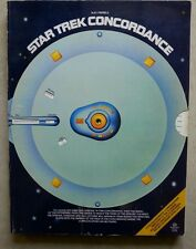 STAR TREK Concordance - By BJO Trimble  (First Edition ,1976)