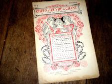 revue Chefs d'Oeuvre du Chant n°8 partion 1905 couverture art nouveau Barabandy