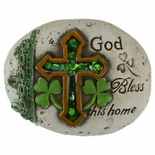 """Darice St Patrick Day """"God Bless This Home"""" Garden Stones"""