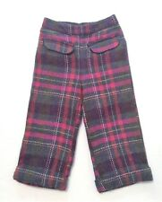 "Gymboree ""Fall Forest"" Vintage Herringbone Plaid Cuffed Pull On Pants, 2T"