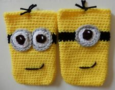 Hand Crocheted Minion Cell Phone iPhone Holder Case Cover NEW you choose