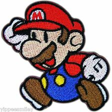Super Mario Jump Runing Mushroom Cartoon Video Game Kids Iron on Patches #0003
