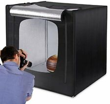 Photo Light Box 32 in x 32 in Studio Photography Tent With LED Light 3 Backdrops