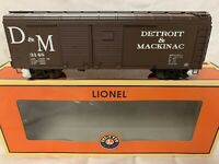 ✅LIONEL DETROIT & MACKINAC ROUND ROOF PS-1 BOX CAR 6-17773 NEW! O SCALE TRAIN