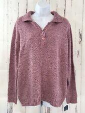 Karen Scott Womens Shawl Collar Sweater Plus Sz 1X Pullover Marled Pink NWT