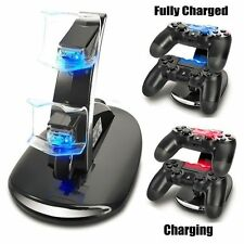 Led Dual Controller Charger Dock Station Stand Charging For PS4 Playstation BG