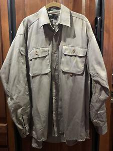 Orvis Men's Long Sleeved Button Down Shirt Fly Fishing XL NWOT Tan Beige Cotton
