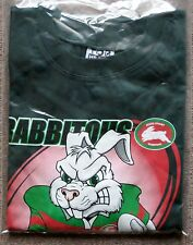 NRL SOUTH SYDNEY RABBITOHS T-SHIRT (L) Dark Green Mascot style - NEW w/tags!