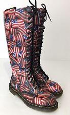 Dr Martens USA American Flag TALL Knee High 20 Eyelet Boots UK 6 US 8 England