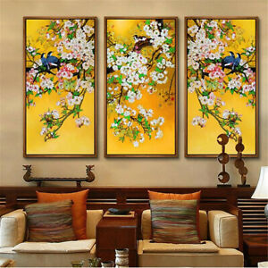 Chinese Style Flowers and Birds Canvas Poster Picture Wall Hangings Home Decor