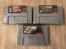 3 GAME Donkey Kong Country Trilogy 1 2 3 Super Nintendo SNES USA Bundle