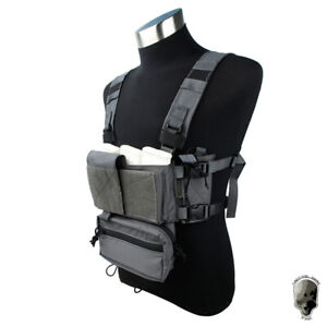 TMC Modular Lightweight Chest Rig Micro Fight Chassis Vest w/ Mag Pouch Military