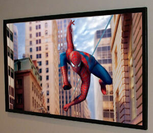 """130"""" PRO GRADE MOVIE PROJECTOR PROJECTION SCREEN BARE MATERIAL 16:9 MADE IN USA!"""