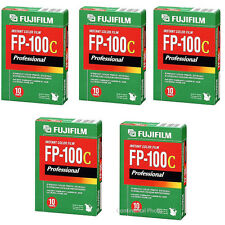 50 Fujifilm Fuji FP-100C Instant Color Film 50 Exposures 2018 DATE