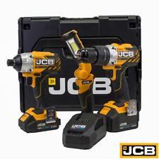 JCB Tools Professional 18V Brushless Combi Drill And Impact Driver Kit