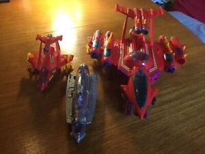 Vintage Manta Force, 3 space ships almost totally complete In great condition