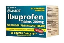 Major Ibuprofen 200mg Tab Brown 50ct