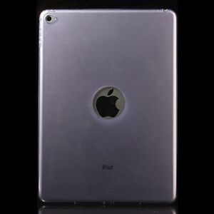 Ultra Thin TPU Silicone Gel Back Case Cover Purple Clear For Apple iPad Air 2