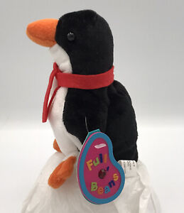 AVON Full O' Beans Birthstone Plush January Garnet Flapper the Penguin