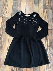 NWT Gymboree Holiday Snowflake Sweater Black Dress Girls Christmas Size 4